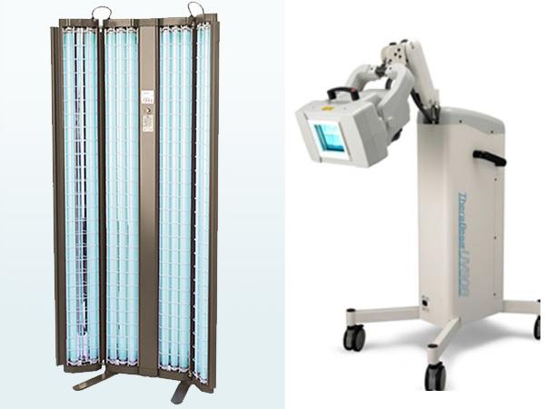 画像:紫外線治療器(ダブリン/セラビーム)